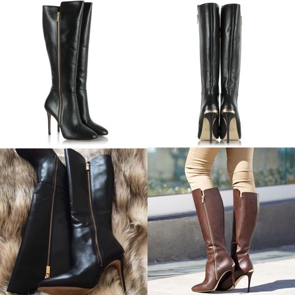 adb2f7a5f97 Michael Kors Clara Boot (Black Leather